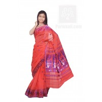 Ethnic Cotton Bengali Taant Saree