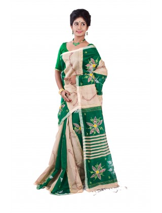 Handloom Embroidery Green