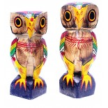 Owl Wooden Painted