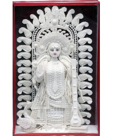 Sholapith Saraswati - Glass Box