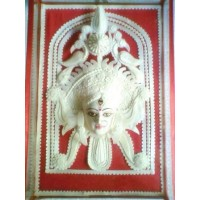 Sholapith Durga - Glassbox (Small)